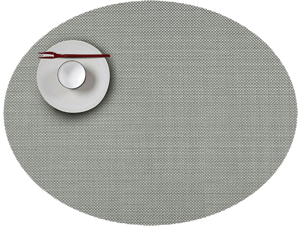 Mini Basketweave - Oval placemat by Chilewich, Aloe