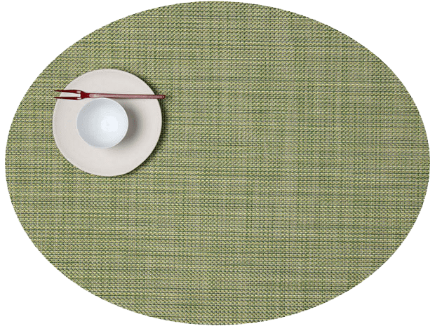 Mini Basketweave - Oval placemat by Chilewich, Dill