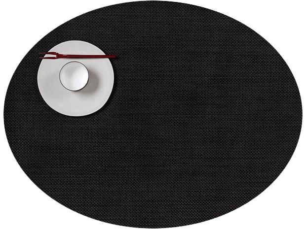Mini Basketweave - Oval placemat by Chilewich, Espresso