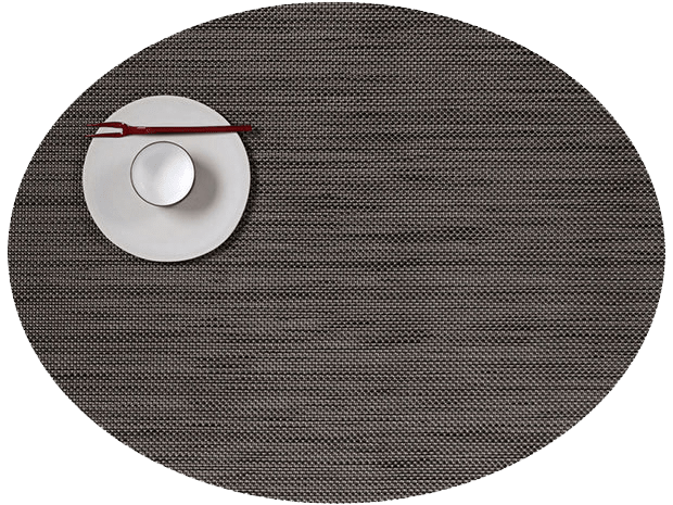 Mini Basketweave - Oval placemat by Chilewich, Light Grey