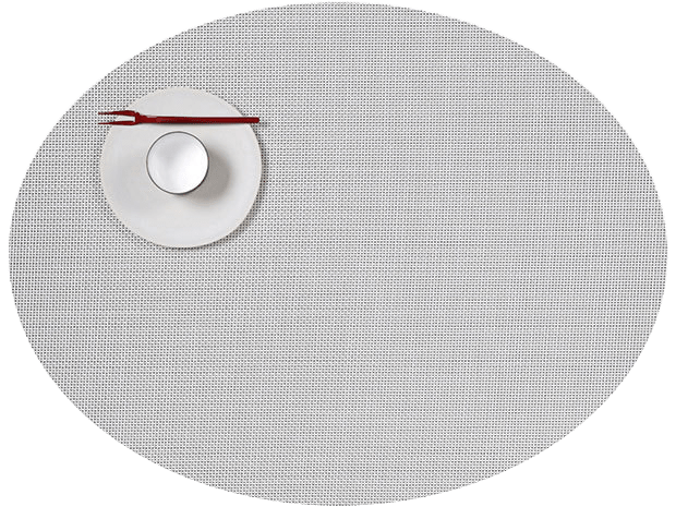 Mini Basketweave - Oval placemat by Chilewich, White