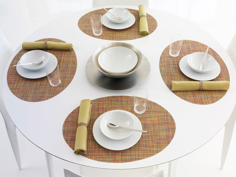 Mini Basketweave - Oval placemat by Chilewich, Confetti