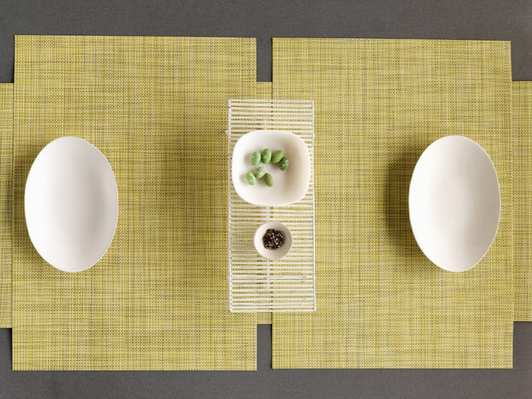 Mini Basketweave placemat by Chilewich, Lemon