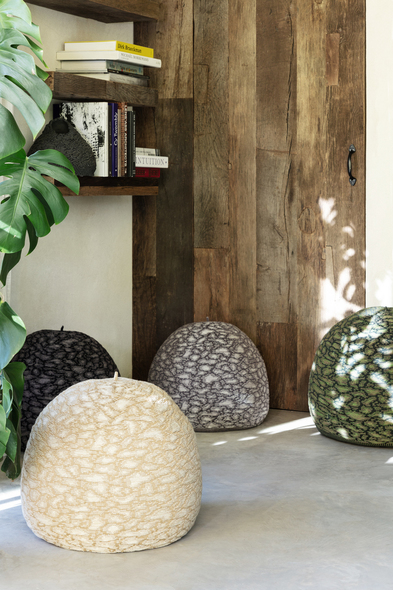 Earth poufs by Casalis