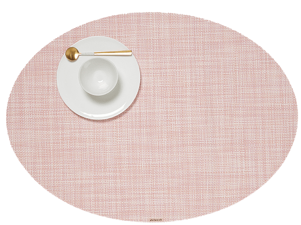 Mini Basketweave - Oval placemat by Chilewich, Blush