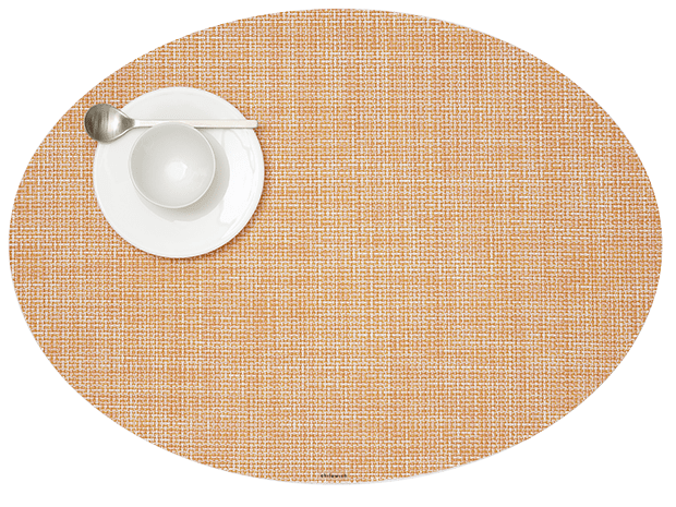 Mini Basketweave - Oval placemat by Chilewich, Cantaloupe