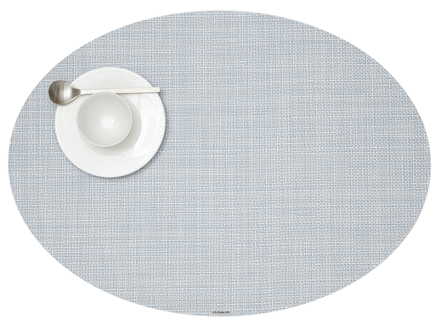 Mini Basketweave - Oval placemat by Chilewich, Sky
