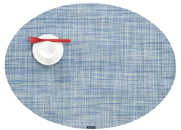 Mini Basketweave - Oval placemat by Chilewich, Chambray