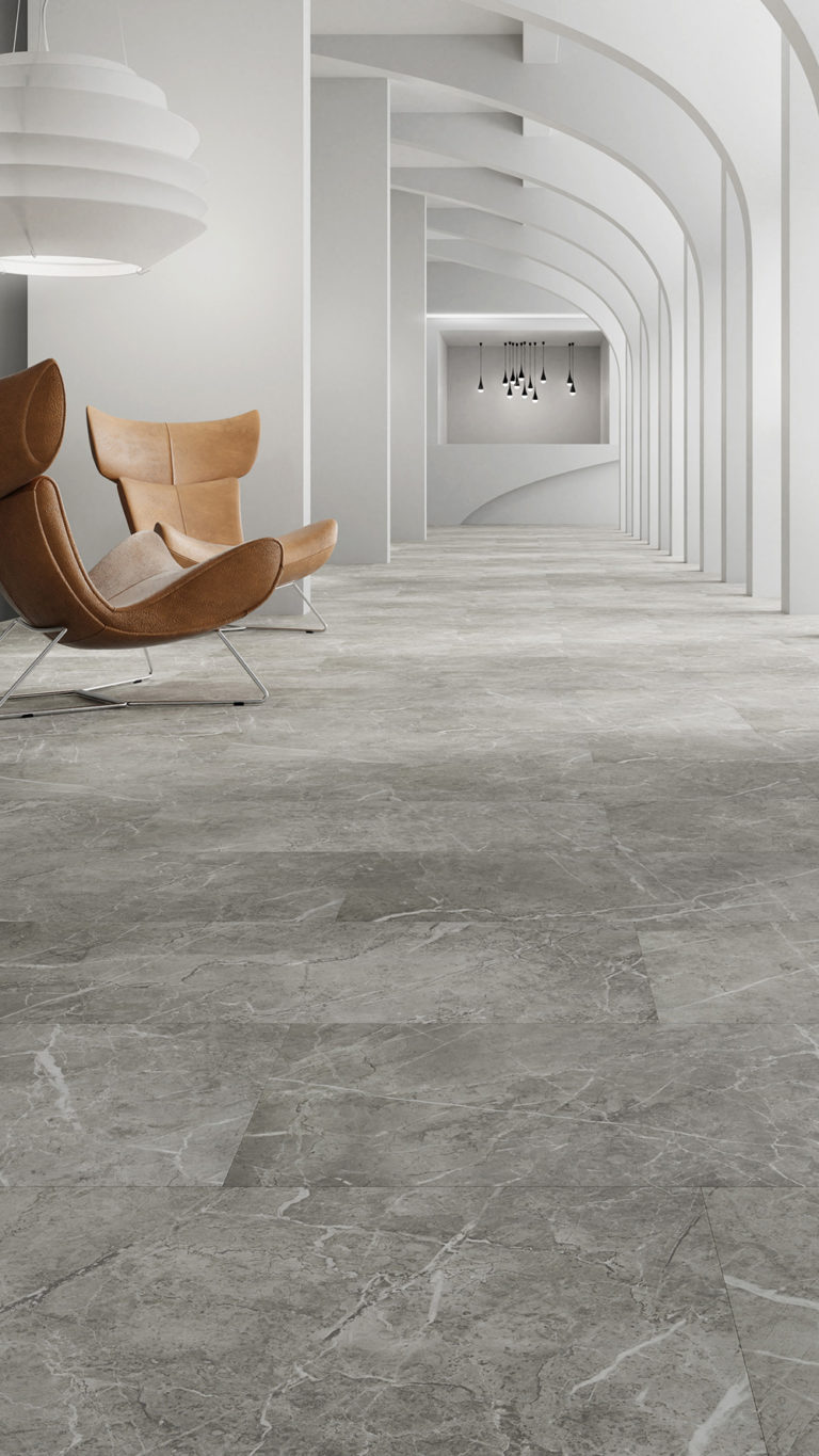 Cementi Click, Marble Grey by Tarkett