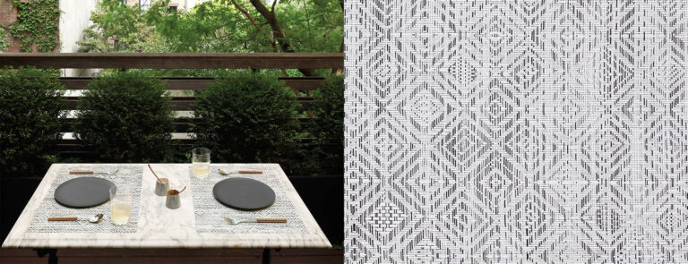 Mosaic by Chilewich, White/Black