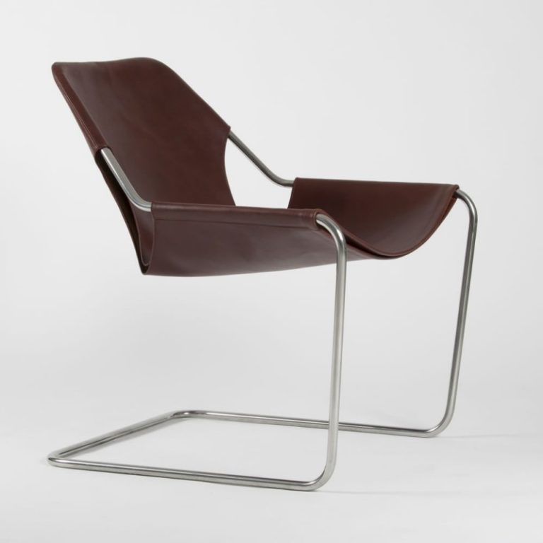 Paulistano chair, Leather Cognac & Polished Stainless steel