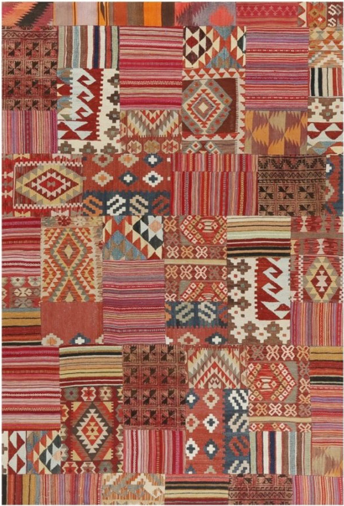 Hand-Woven Patchwork Kilim by Ornate