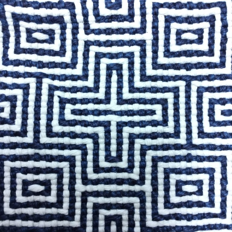 Criss Cross Design in Navy and White by Concept