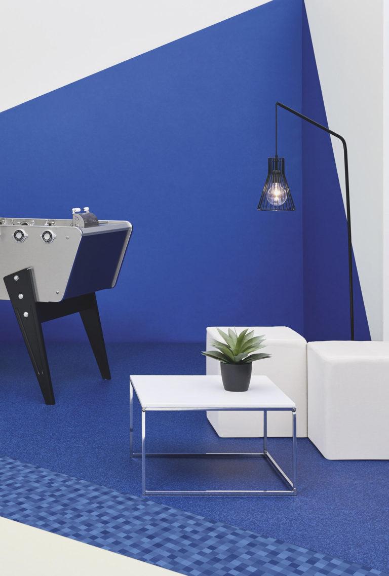 Acczent Excellence. Diamond Blue, Facet Blue & Uni White by Tarkett