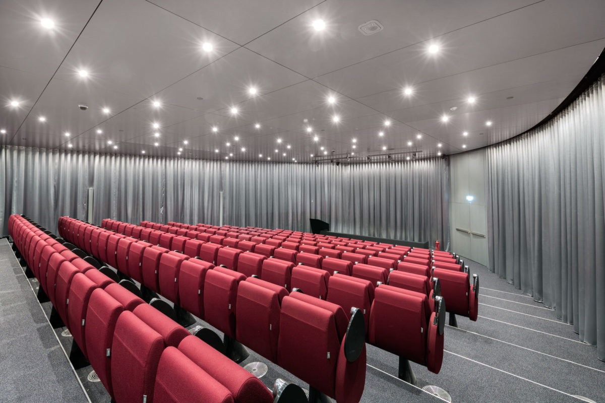 The auditorium at the Agemar building
