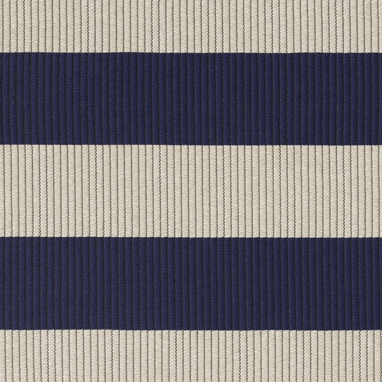 In/Out Big Stripe, navy blue light sand