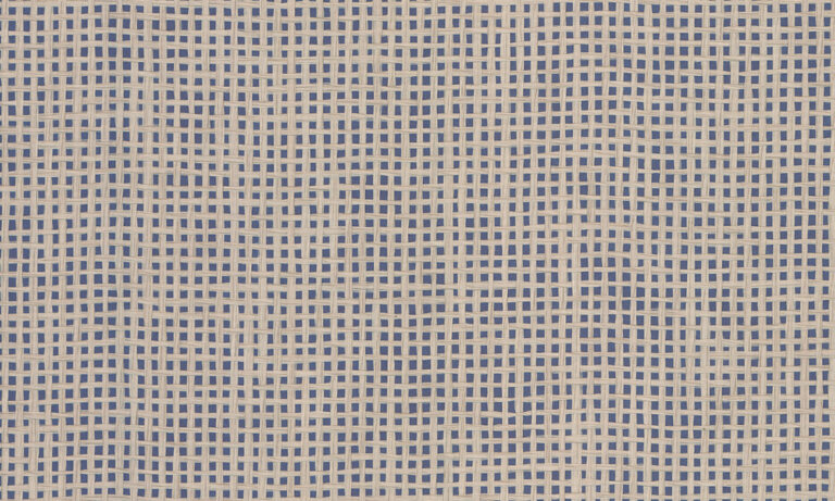 Waffle Weave, navy beige close up