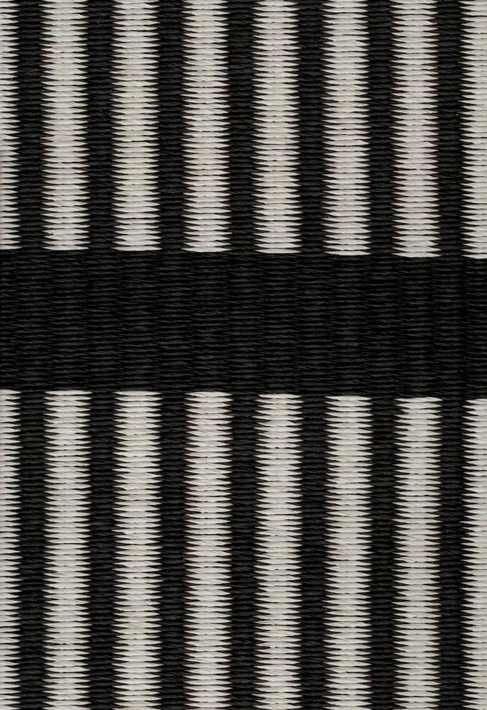 Cut Stripe, black stone, paperyarn close up