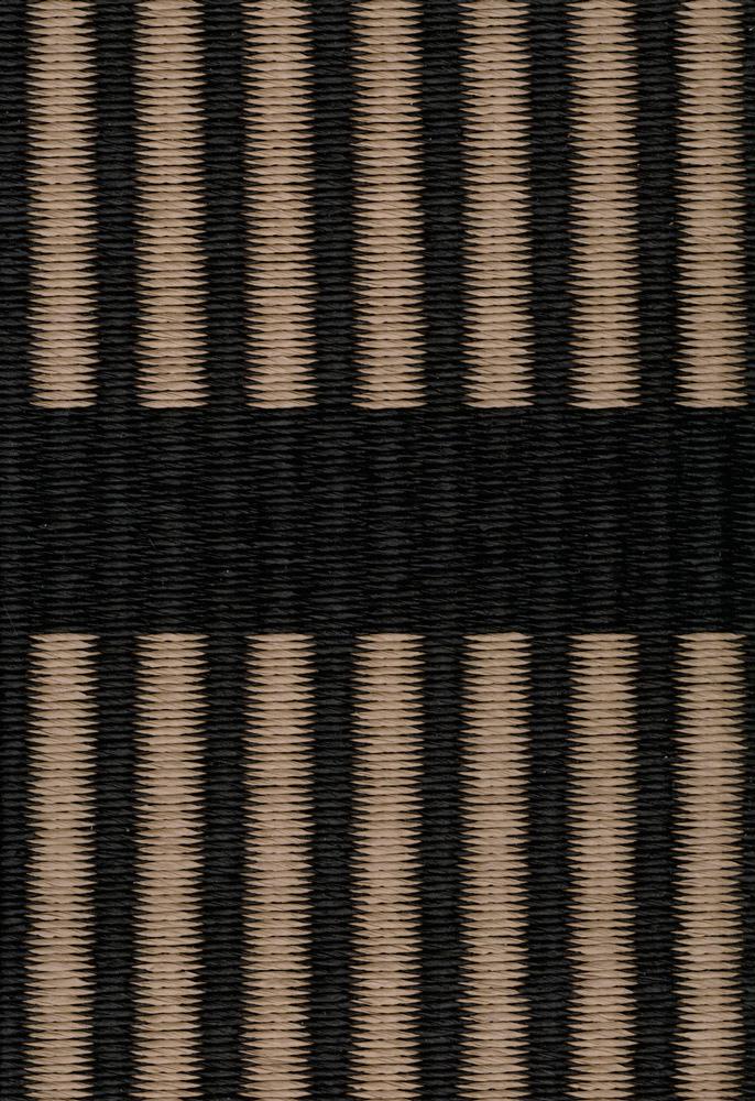 Cut Stripe, black antique, paperyarn close up