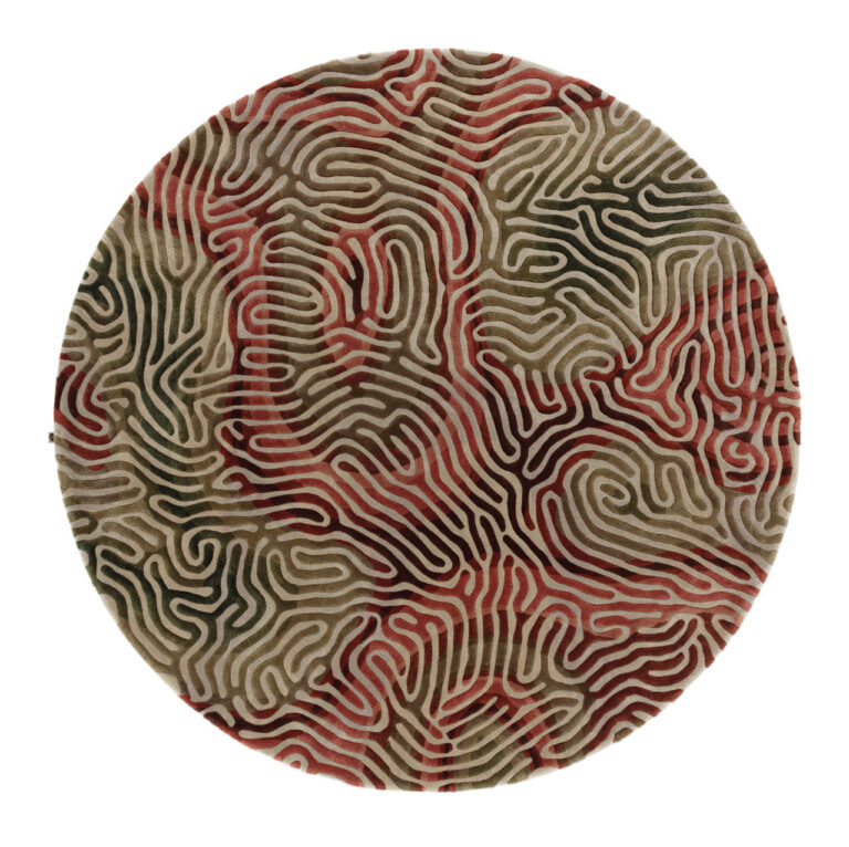 Parallel Brain, chili moss, circle, top view