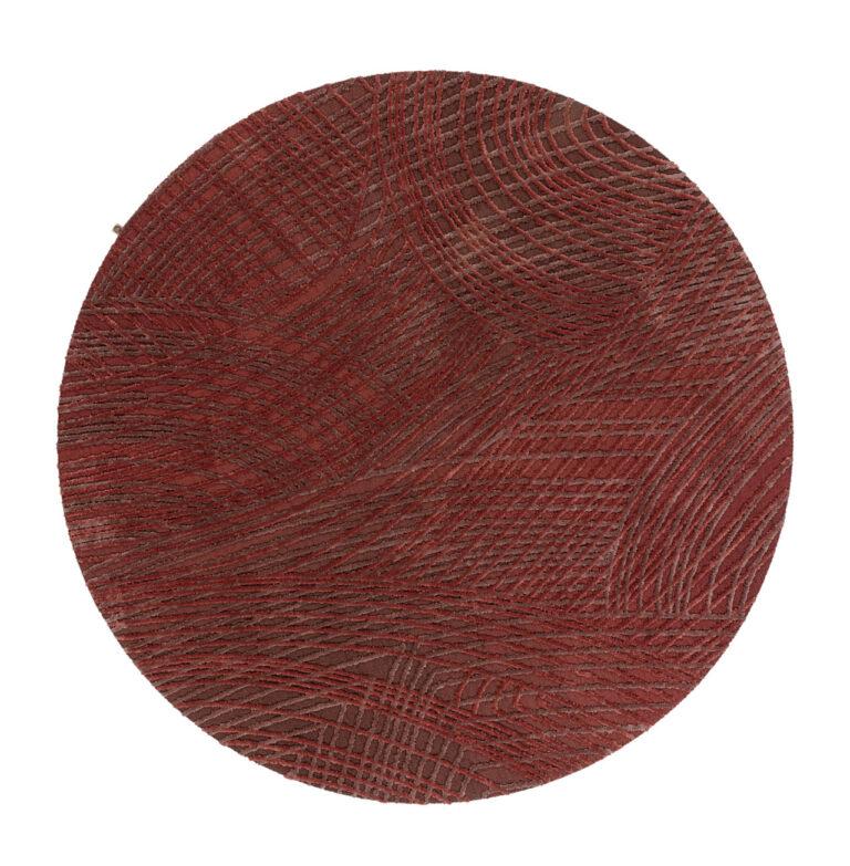 Spiro, auburn brown, circle, top view