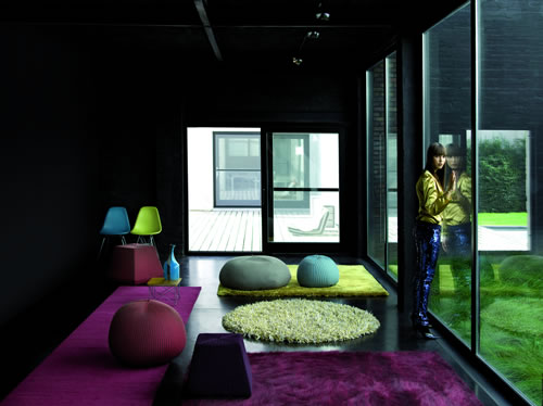 Rugs and poufs by Casalis