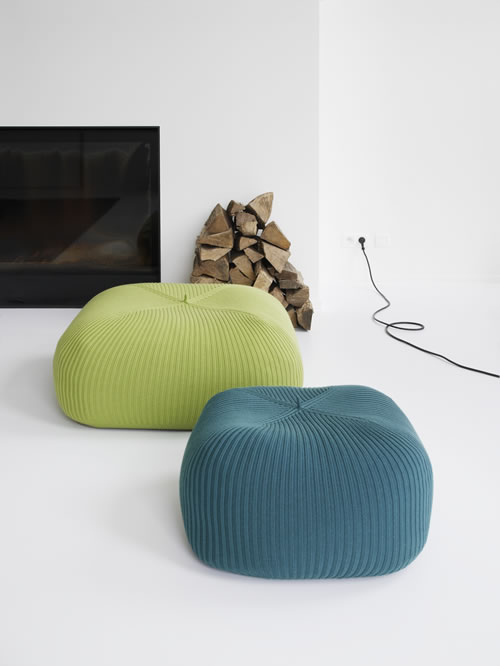 The Bonnet Poufs by Casalis Indoor and Outdoor